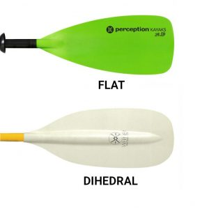 kayak paddle buying guide - flat and dihedral blades