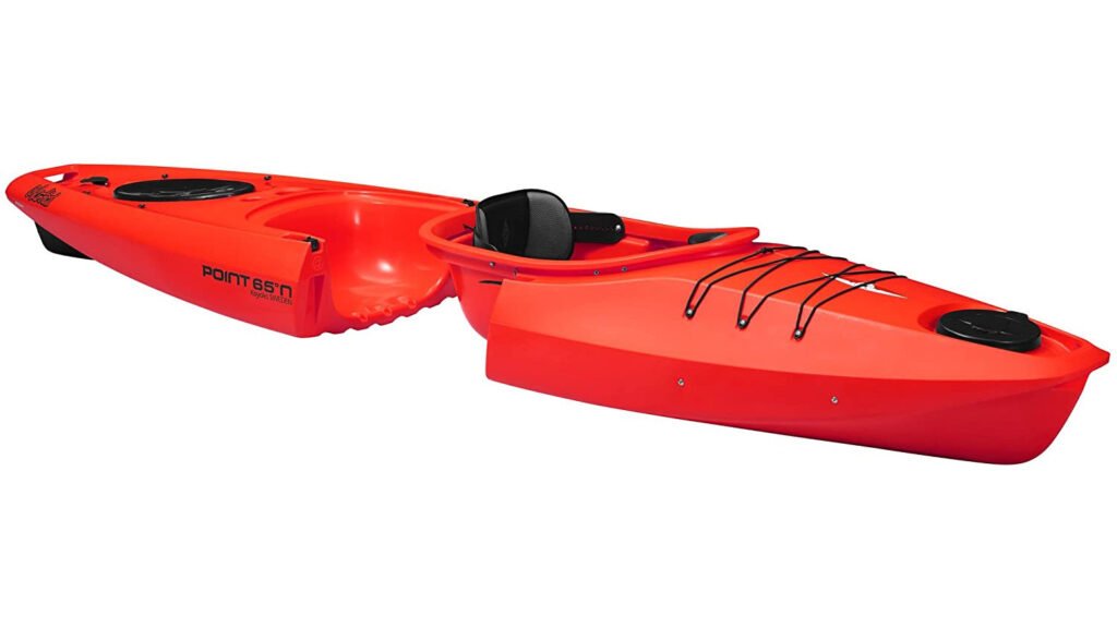 This is the hero of our Point 65 Martini GTX solo review - a modular kayak that boasts great space efficiency.
